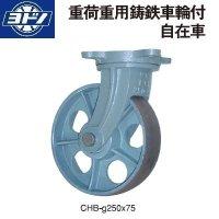 ヨドノキャスター 自在キャスター プレート式 重荷重用鋳鉄車輪付キャスター