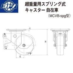 画像2: ヨドノキャスター 自在キャスター(旋回ロック付) プレート式 超重量用 スプリング式 MCナイロンキャスター